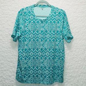Teal Pattern T-Shirt